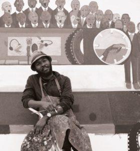 Richard Mudariki, Five Bhobh, Zimbabwe, Painting, Iconic Figures