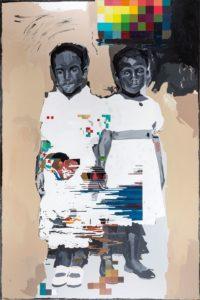 Kudzanai-Violet Hwami Zimbabwe Young Roberta Circa 2080 oil and acrylic on canvas Five Bhobh Zeitz MOCAA