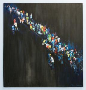 Charles Bhebhe A Nightmare Acrylic on canvas Five Bhobh Zeitz MOCAA