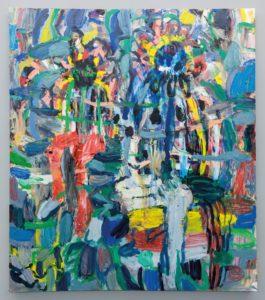 Misheck Msamvu Zimbabwe Memoirs of Childhood Oil on Canvas Five Bhobh Zeitz MOCAA