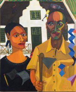 Richard Mudariki Painting Five Bhobh Zimbabwe Zeitz MOCAA