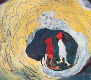 Portia Zvavahera. My Spirit with You Five Bhobh Painting Zeitz MOCAA