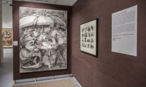 Installation View Domestic Scenes exhibition 'Why Should I Hesitate: Putting Drawings to Work' Zeitz Mocaa Majp