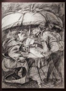 William Kentridge Domestic Scenes 1980 Largest exhibition in Africa Zeitz Mocaa Drawing Fine Art