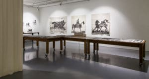 Installation View of Triumphs and Laments in the exhibition, Why Should I Hesitate: Putting Drawings to Work